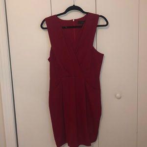 """Red """"wrap"""" dress"""